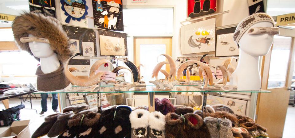 Inside the Ulukhaktok Arts Centre - Northwest Territories Canada