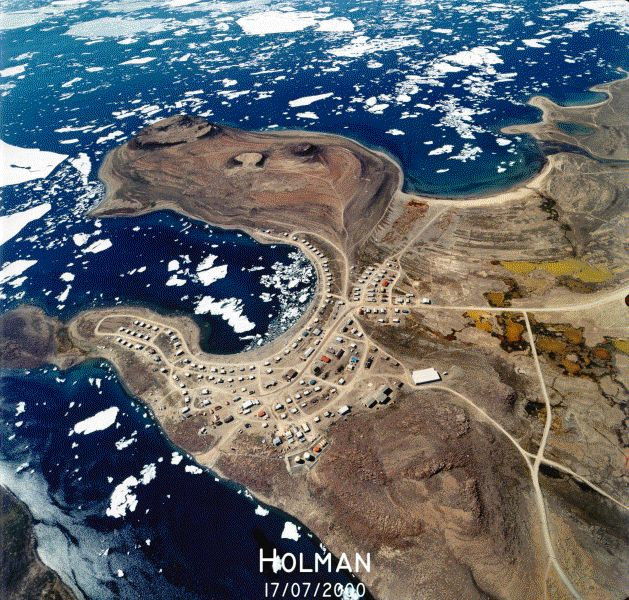 Aerial view of Holman